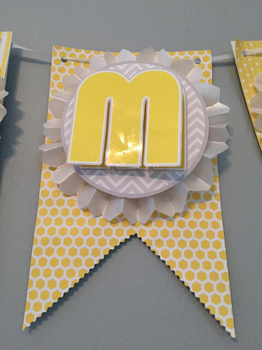 DIY Banner for Baby Shower