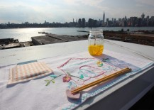 DIY Pocket Placemats NYC in Background 217x155 Get Your Family to Put Down Their Phones During Dinner with These DIY Pocket Placemats
