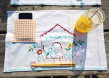 DIY Pocket Placemats Step to Put Phone Away During Dinner