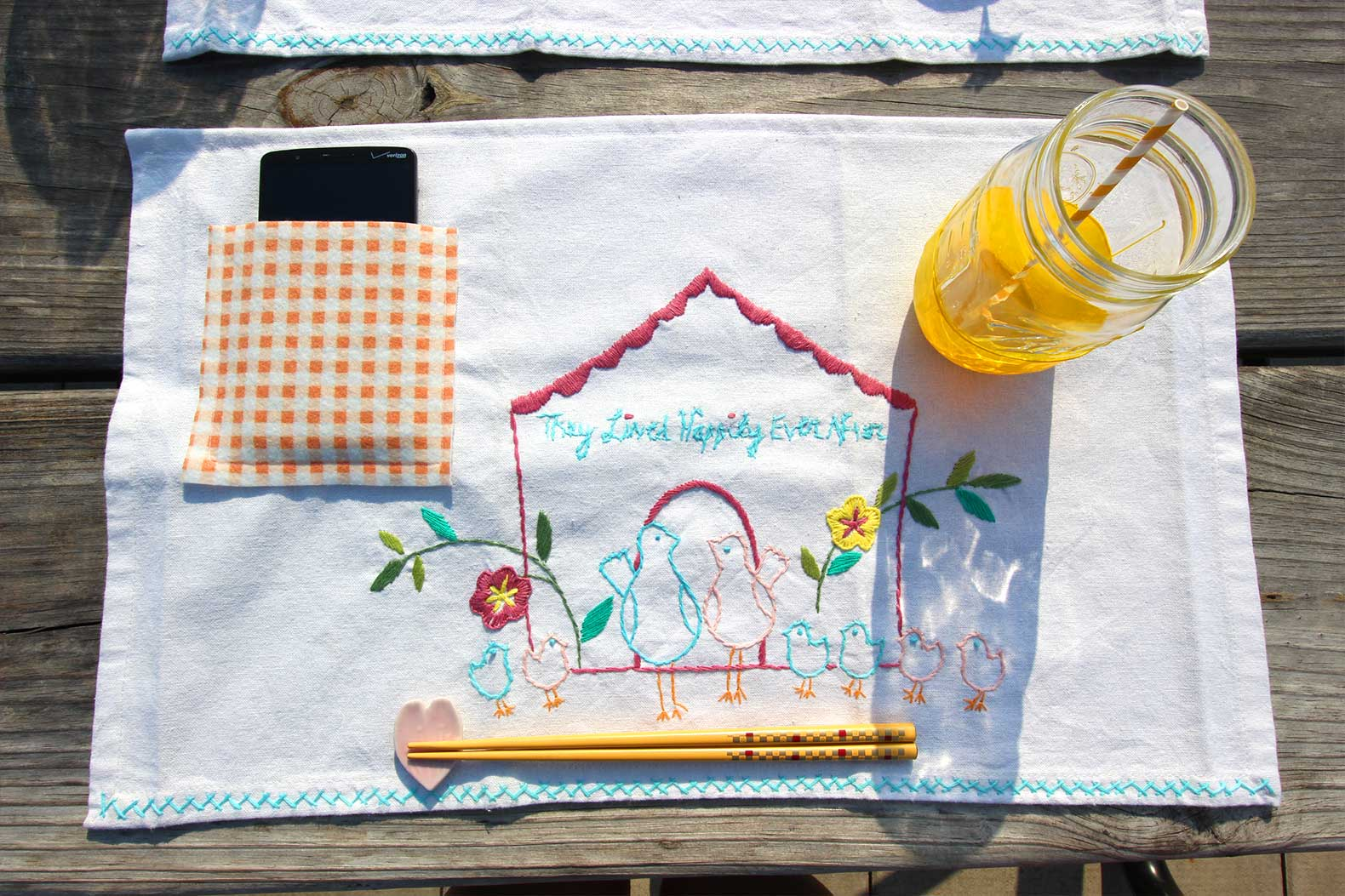 DIY Pocket Placemats Step to Put Phone Away During Dinner Get Your Family to Put Down Their Phones During Dinner with These DIY Pocket Placemats