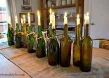 DIY Wine Bottle Candle Holders 217x155 8 Ways to Wow Your Friends with Recycled Wine Bottles