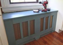 DIY window seat radiator cover