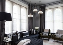 Dark drapes look as elegant as lighter, whiter versions when used right