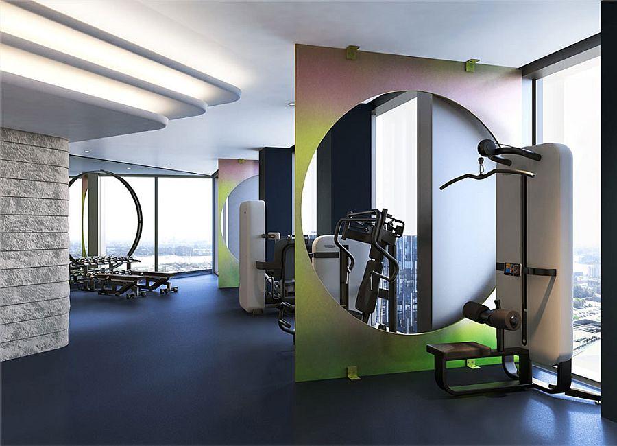 Dedicated gym at the No.2 at Upper Riverside