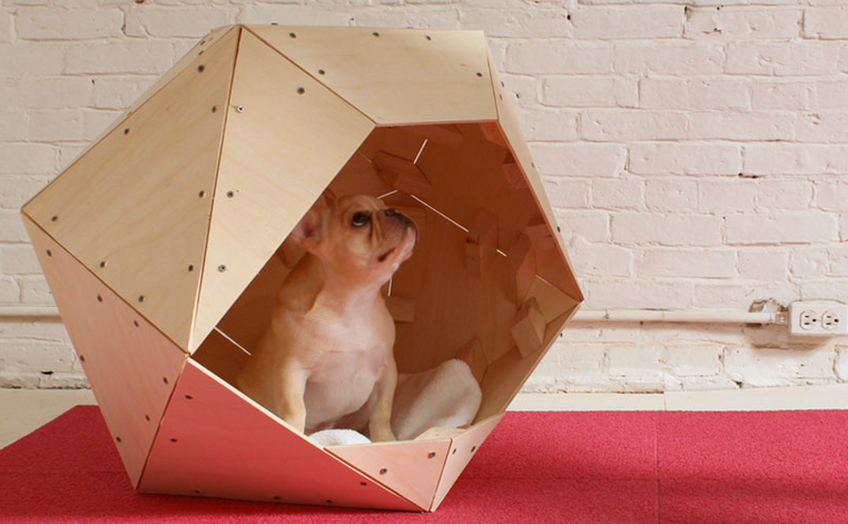 Geometric and chic DIY doghouse design