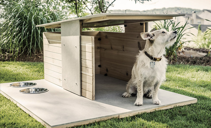 Ordinary Dog House Designs Part - 3: View In Gallery The Base Is Easily Cleanable, And The Vents At The Top Let  Hot Air Out