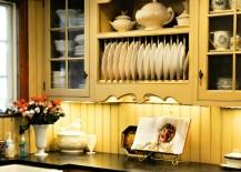 English country kitchen with beadboard backsplash