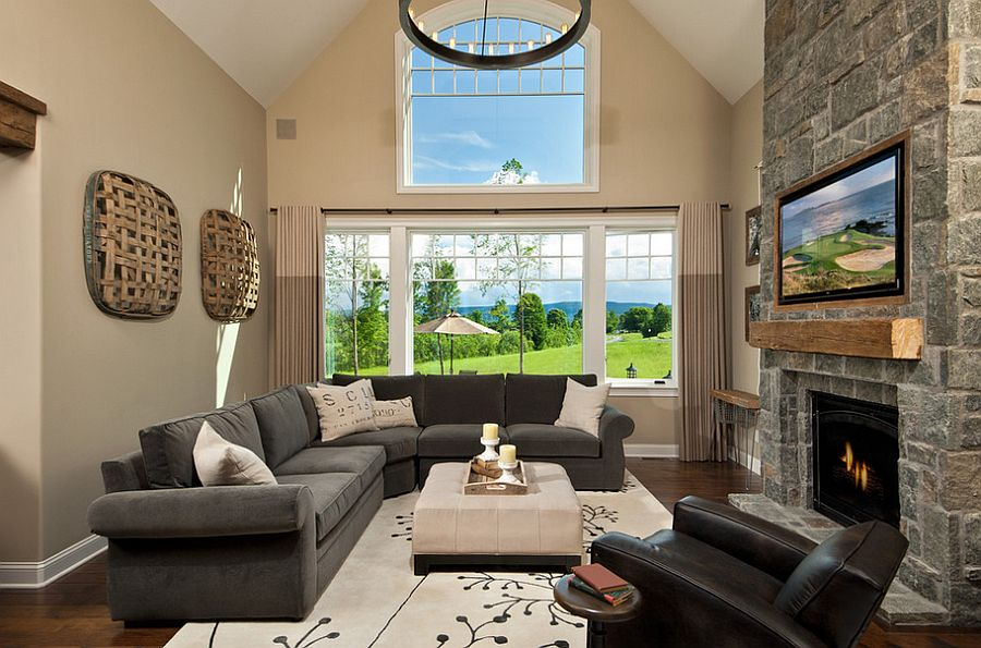 Exquisite living room combines the classic and the contemporary [Design: Witt Construction]