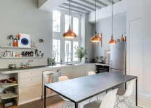 Fabulous kitchen in Paris Apartment makes smart use of space on offer