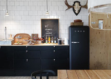Fascinating use of black inside the Scandinavian kitchen