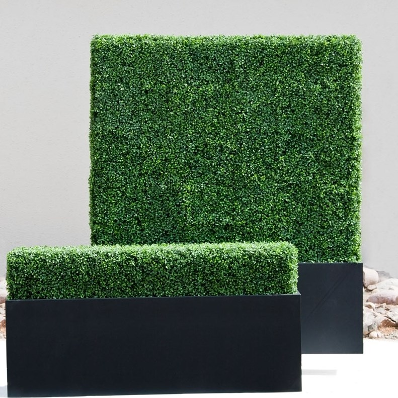 View In Gallery Faux Boxwood Hedges From Hooks And Lattice