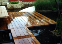 Floating deck over water can take plenty of wear and tear