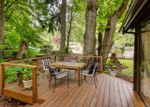 Simple wooden deck design