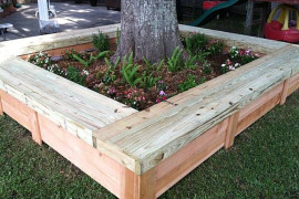 Flower bed tree bench  Tree Bench Ideas for Added Outdoor Seating Flower bed tree bench