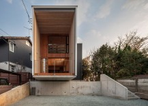 Box-style design of the home is simple and modern