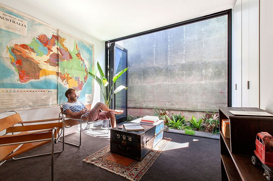 View In Gallery Foldable Glass Doors Connect The Interior With Outdoors