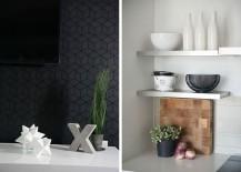 Geometric gray tiles for the living room