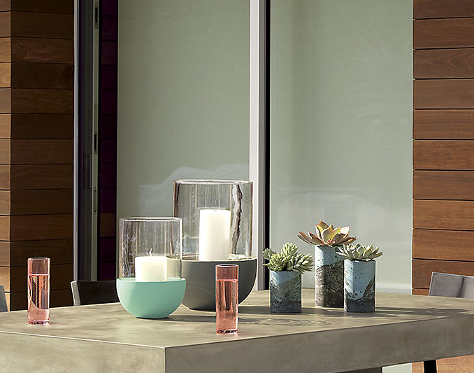Glass and ceramic lanterns from CB2