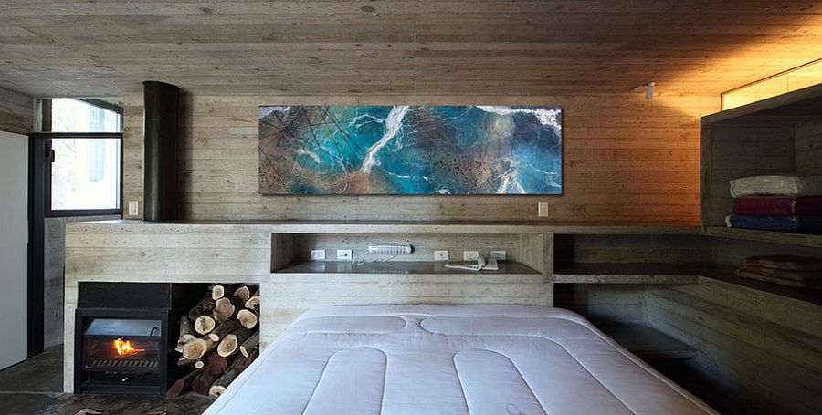 gorgeous wall art adds color to the contemporary bedroom from john