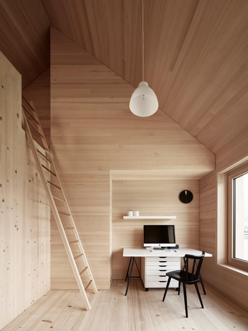 Haus für Julia und Björn with roof cantilevers