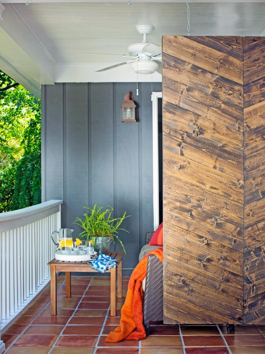 Herringbone privacy screen