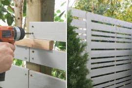 Home Depot privacy fence tutorial privacy fence Modern Privacy Fence Ideas for Your Outdoor Space Home Depot privacy fence tutorial 270x180