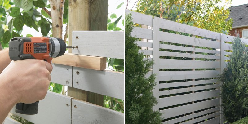 View In Gallery Home Depot Privacy Fence Tutorial