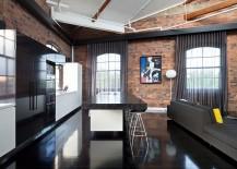 Industrial kitchen has with dark, elegant beauty