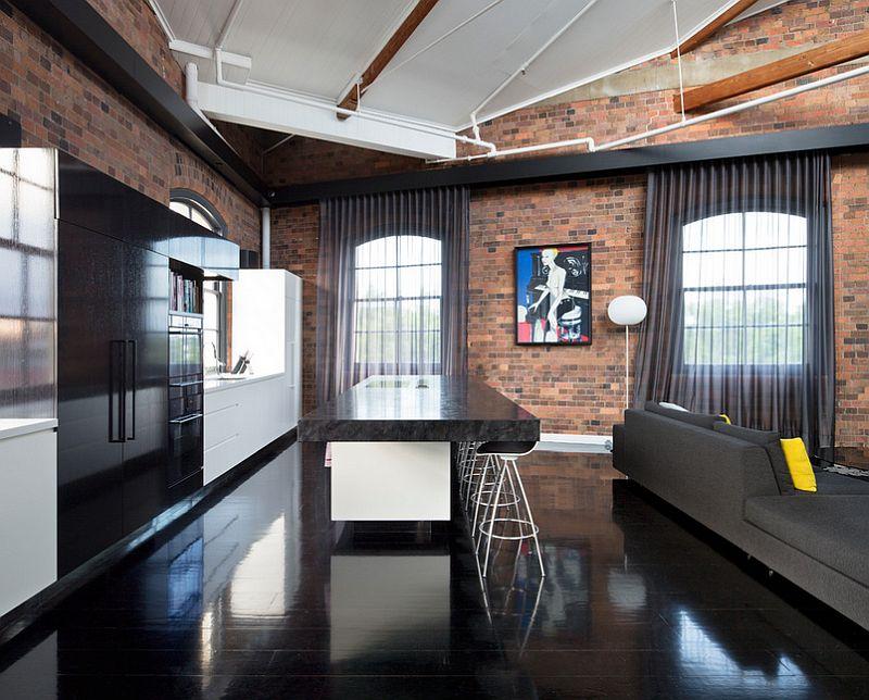 Industrial kitchen has with dark, elegant beauty [Design: TONIC Design]