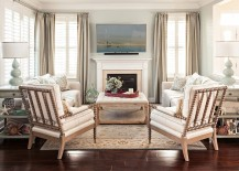 Keeping it simple and elegant inside the beach style living space [Design: Casabella Home Furnishings & Interiors]