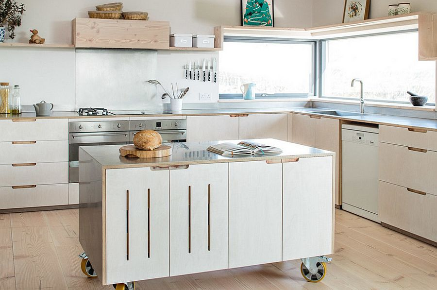 50 modern scandinavian kitchens that leave you spellbound for Kitchen units on wheels