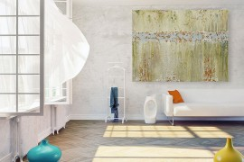 Large wall art pieces can make a huge impact without creating clutter