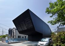 Dark, contemporary exterior of Lift Home