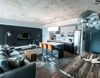 Organic Elements and Shades of Gray For This Industrial Loft in Toronto