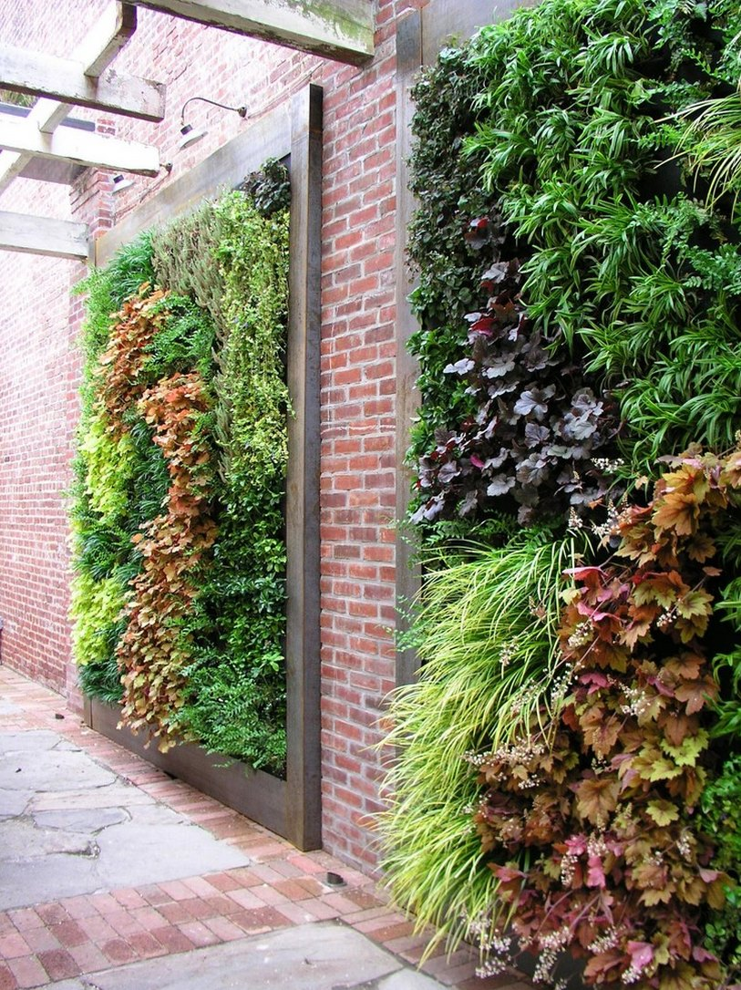 Living walls filled with perennials
