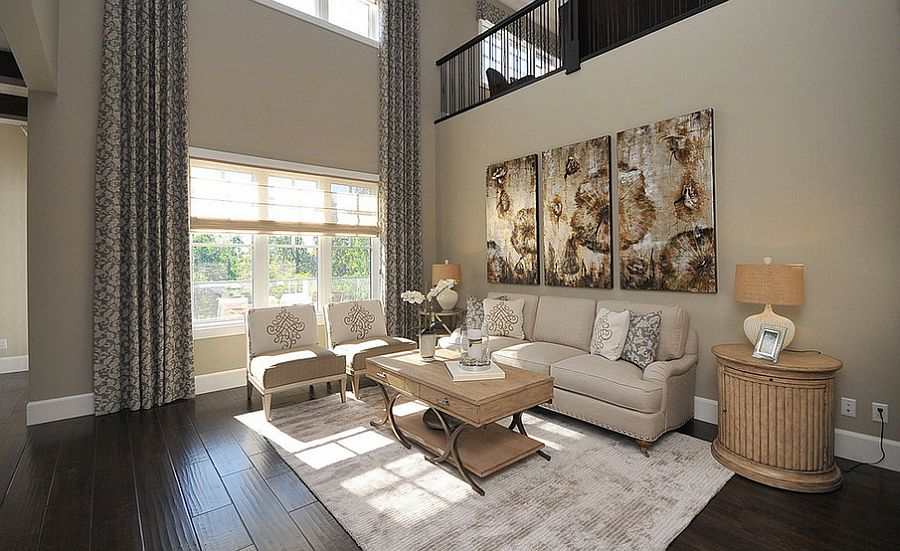 Lovely painting complements the color scheme of the room [From: FDY Furniture & Interior]