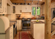 Classic kitchen uses beadboard surfaces extensively