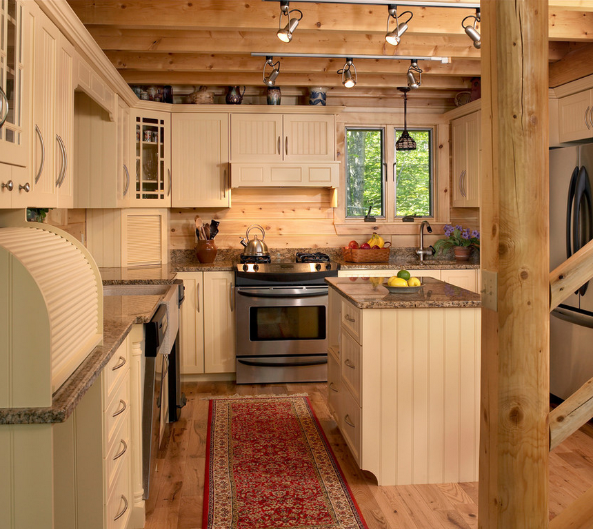 This Maine kitchen fits into its locale