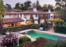 Mediterranean-style stucco home from Studio William Hefner