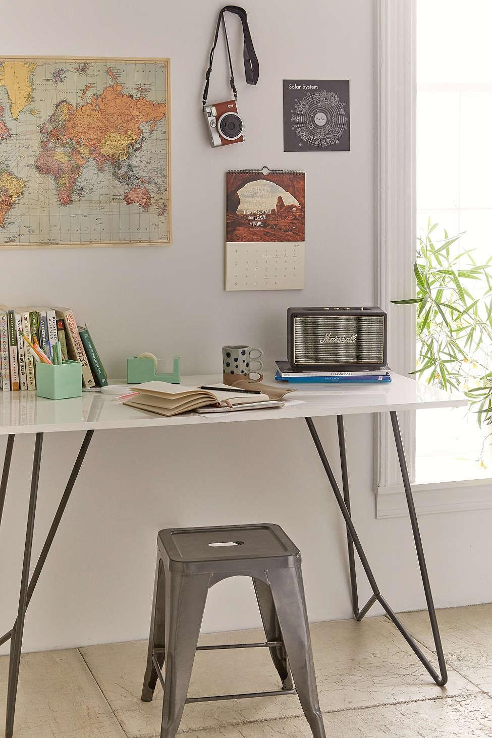 Metal desk from Urban Outfitters