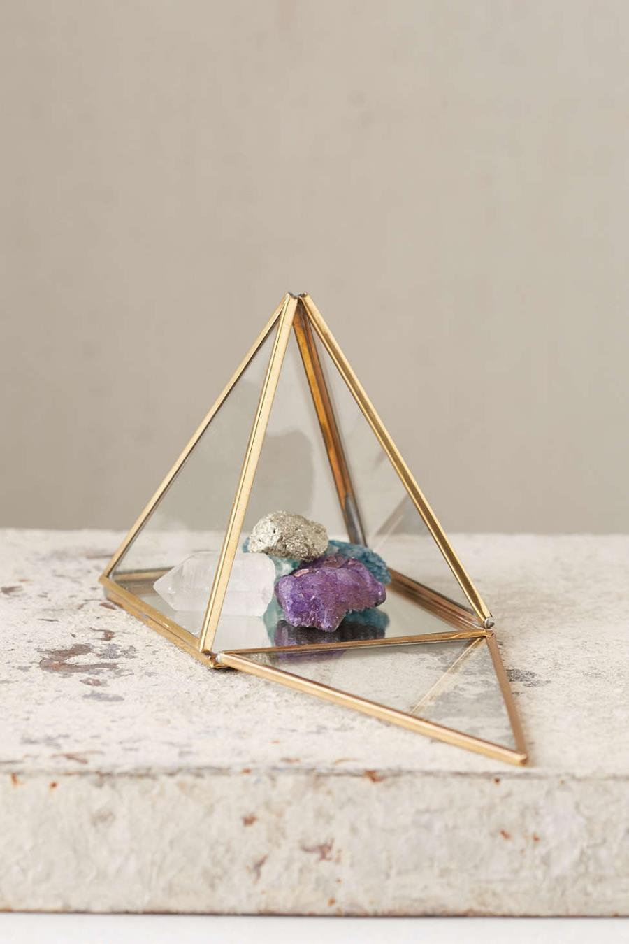 Metal pyramid box from Urban Outfitters