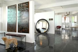 Metallic wall art with industrial flair [From: Eran Turgeman Photography]