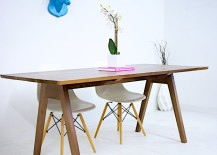 Midcentury Modern-style trestle table from Etsy shop Moderncre8ve