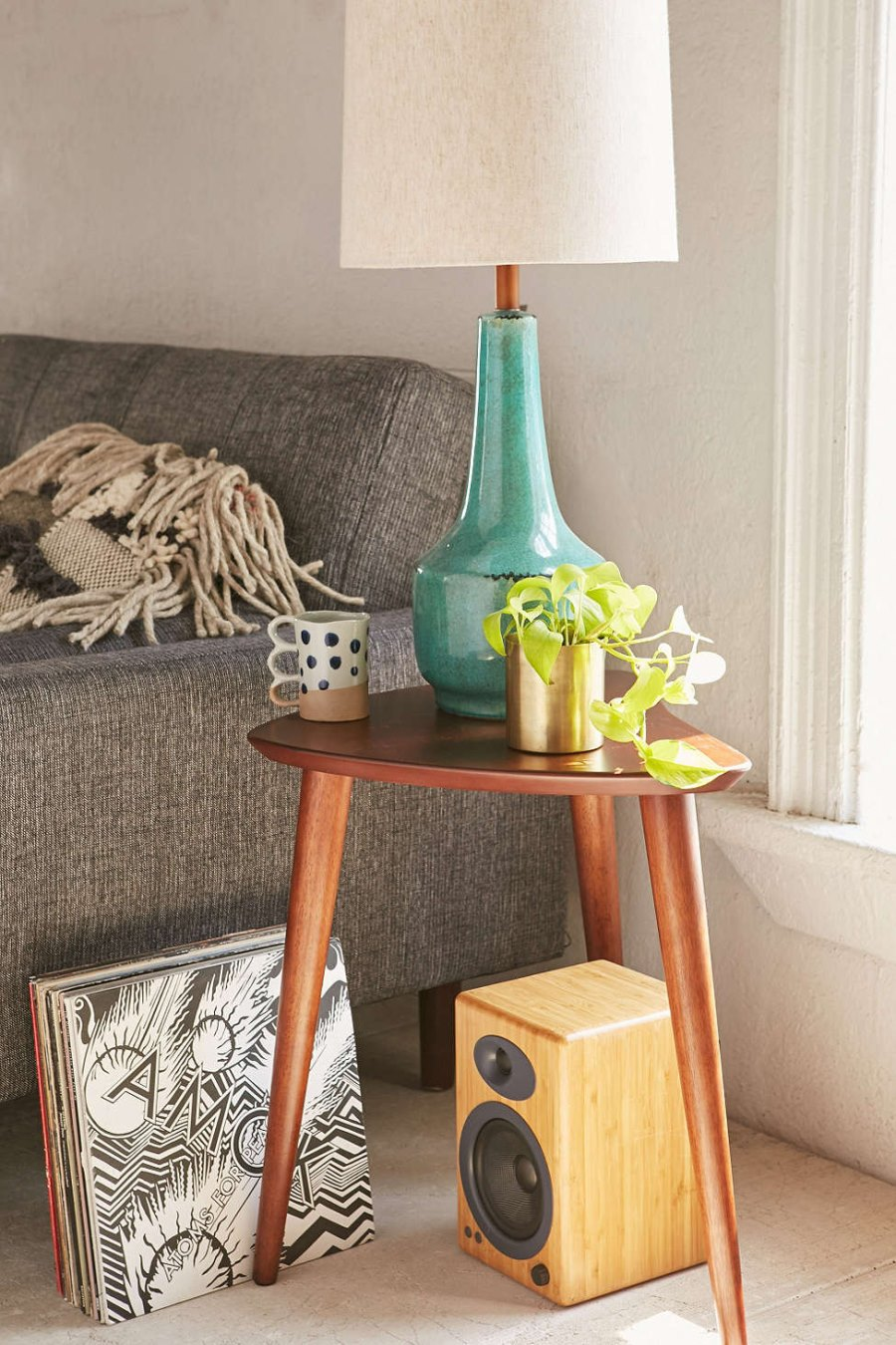 Midcentury-style side table from Urban Outfitters