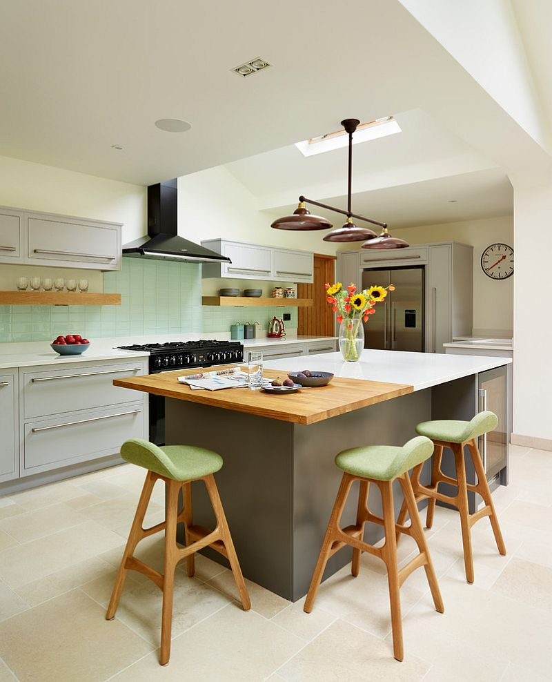 25 Captivating Ideas For Kitchens With Skylights: Minimalism Is An Inherent Part Of Scandinavian Kitchen