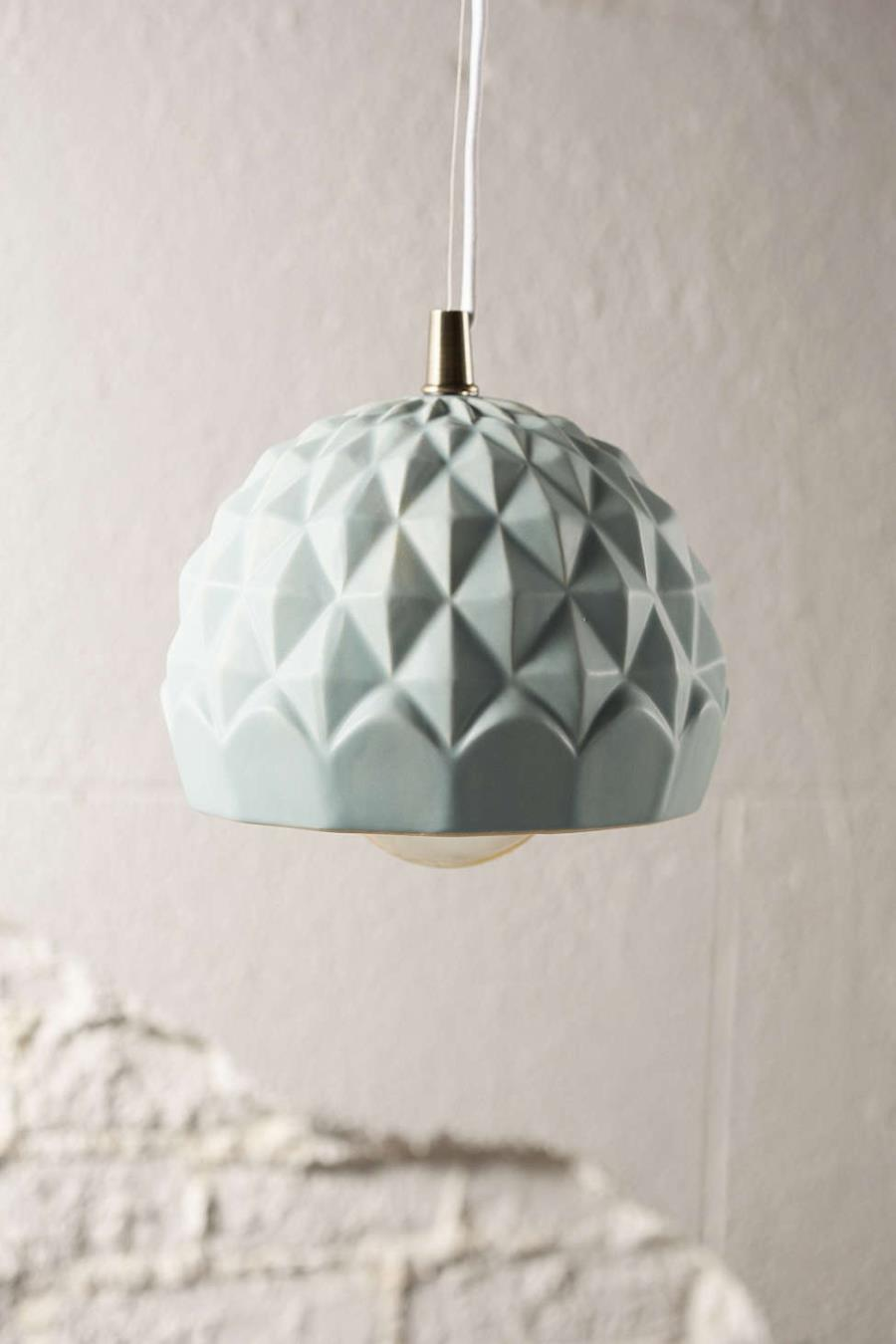 Mint green pendant light from Urban Outfitters