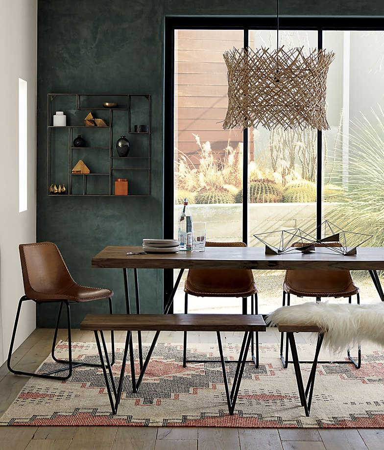 Modern Boho dining room from CB2