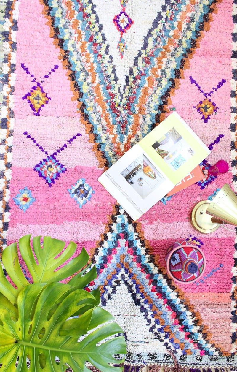 Modern Boho rug from Baba Souk