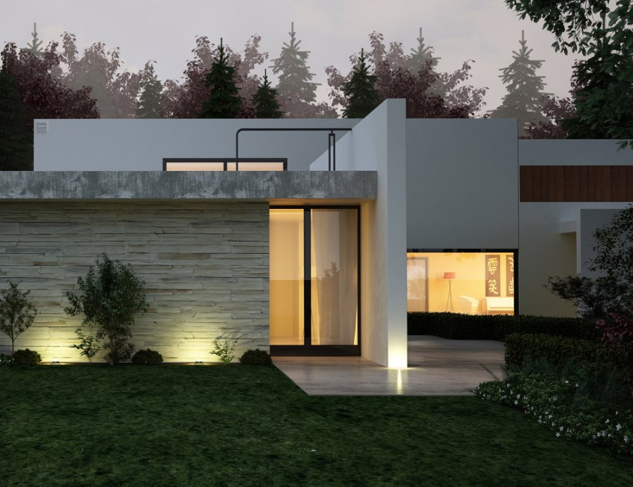 Stucco home style Types of modern houses