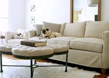 Modern ottoman coffee table from Gabby Home [Design: Katie Gagnon / Mina Brinkey Photography]